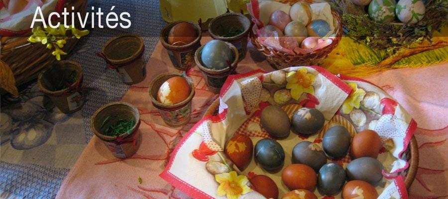 Décoration des oeufs de Pâques