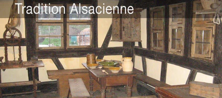 Un intérieur typique des maisons Alsaciennes traditionnelles